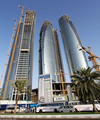 Etihad towers construction 2010