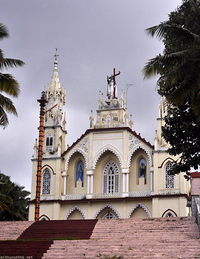Kottayam church steps