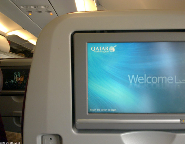 Qatar Airways in-flight entertainment