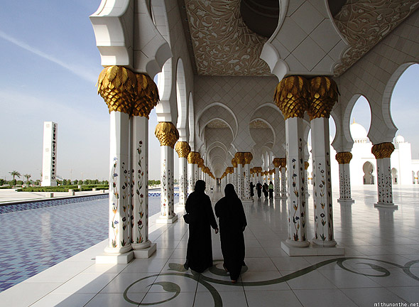 Shaikh Zayed mosque women abaya