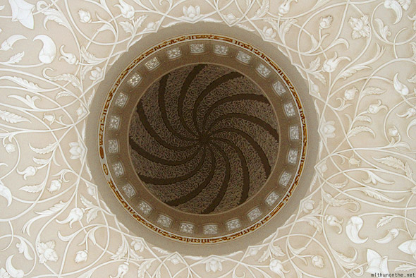 Sheikh Zayed mosque ceiling dome