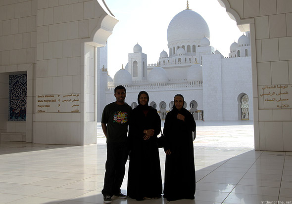 Sheikh Zayed mosque Mithun mother abaya