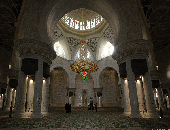 Sheikh Zayed mosque prayer hall center