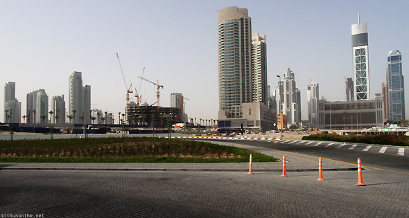 Burj Khalifa surrounding office buildings