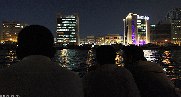 Dubai creek abra boat people