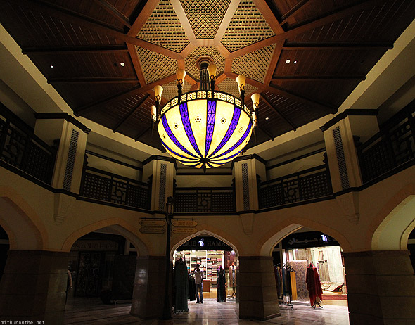 Dubai Mall Gold souk ceiling chandlier