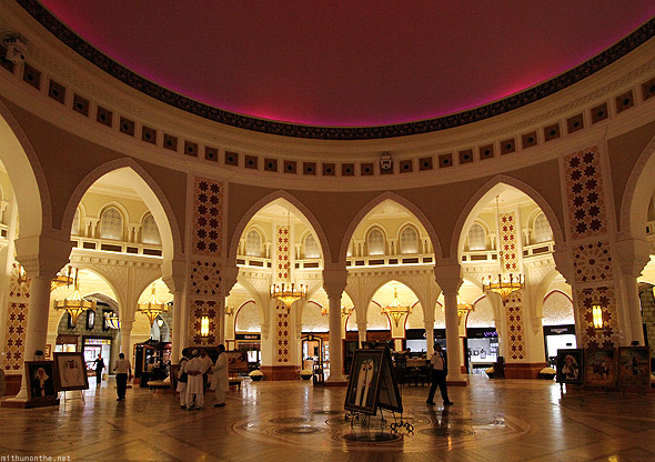 Dubai Mall Gold souk lit up dome