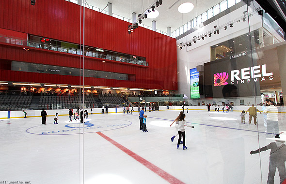 Dubai Mall ice skating rink Olympic Reel Cinemas
