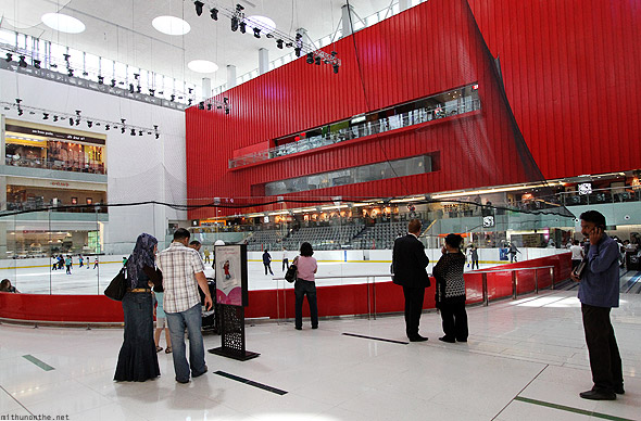 Dubai Mall ice skating rink Olympic
