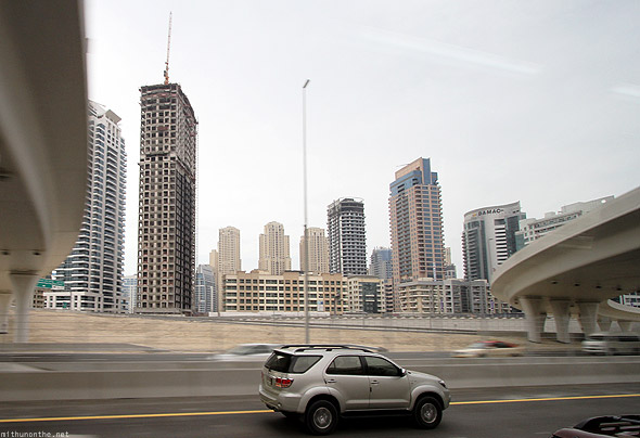 Dubai Marina buildings Sheikh Zayed road