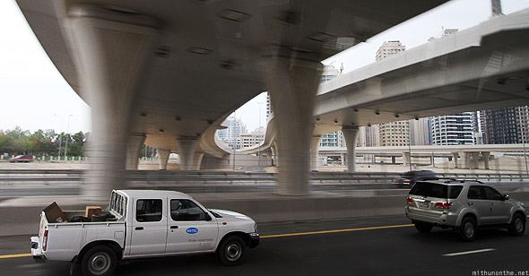 Entering Dubai Marina Sheikh Zayed road