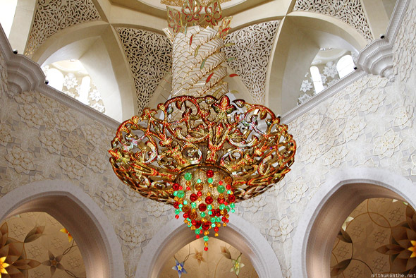 Sheikh Zayed mosque dome chandelier