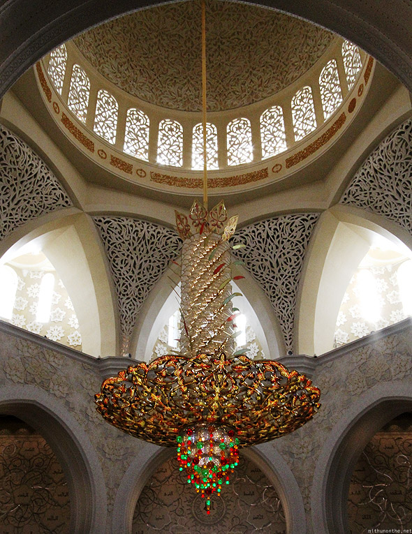 Sheikh Zayed mosque largest chandelier