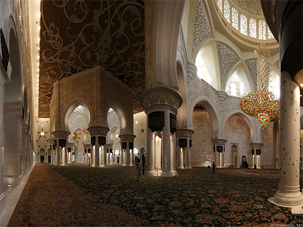 Sheikh Zayed mosque prayer hall one half