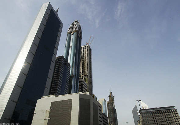 Buildings road behind Sheikh Zayed Dubai Rotana