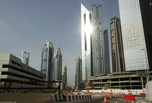 Buildings road behind Sheikh Zayed Dubai