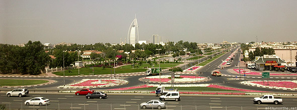 Burj Al Arab from inside metro