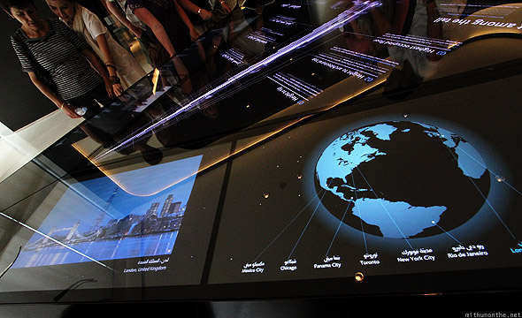 Burj Khalifa lobby London display
