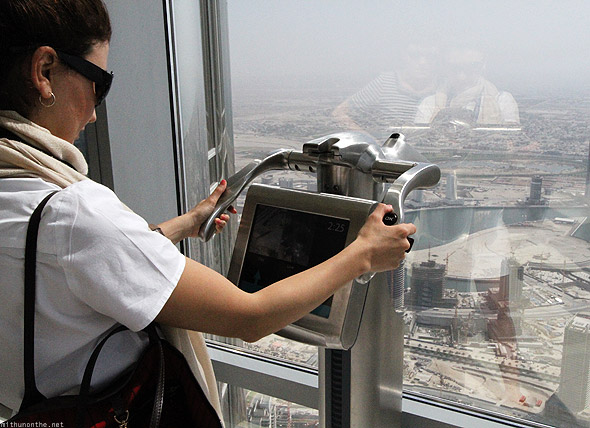 Burj Khalifa observation deck zoom viewer