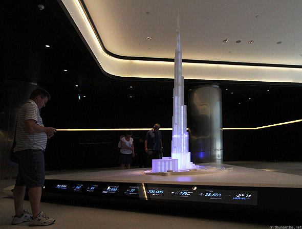 Dubai Mall Burj Khalifa lobby display