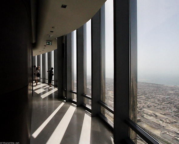 Dubai Mall Burj Khalifa observation deck pillars