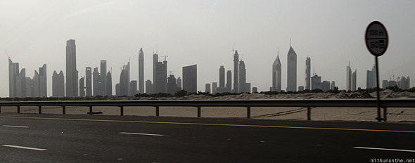 Dubai skyline buildings afternoon