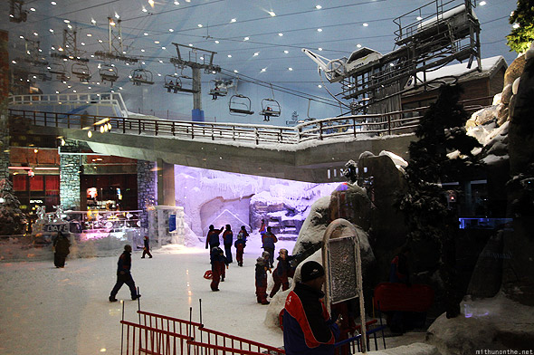 Mall of Emirates Ski Dubai inside