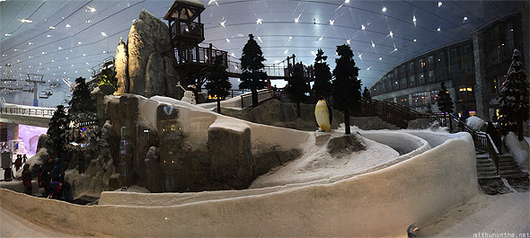 Mall of Emirates Ski Dubai inside slope panorama