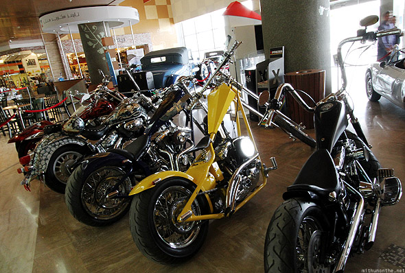 Mall of Emirates Yellow Hat choppers