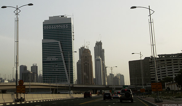 Jumeirah road towards Dubai Marina