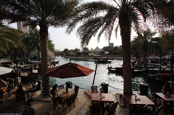 Souk Madinat Jumeirah coffee shop restaurant boats