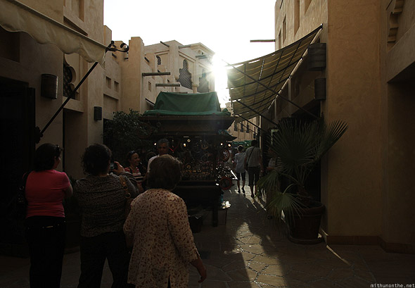 Souk Madinat Jumeirah outside carts