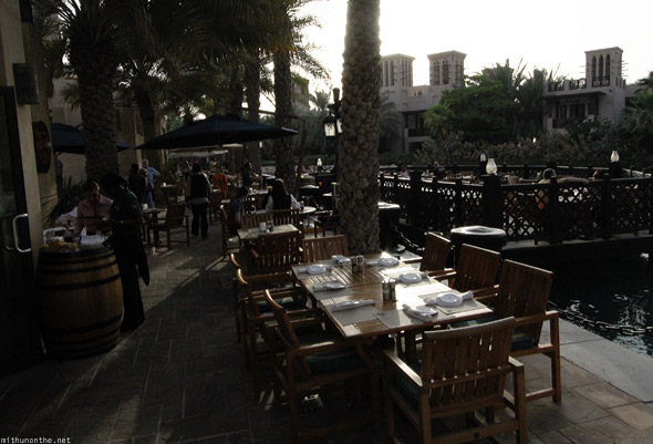 Souk Madinat Jumeirah restaurant waterway