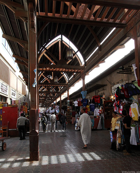 Bur Dubai souk morning shops