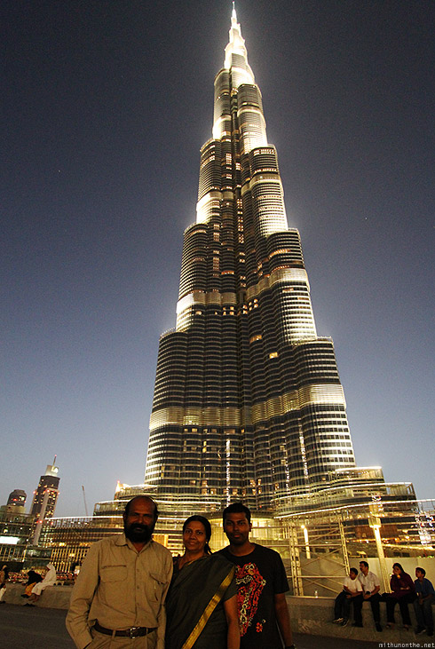 Burj Khalifa Mithun parents portrait