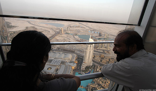 Burj Khalifa parents At the Top view