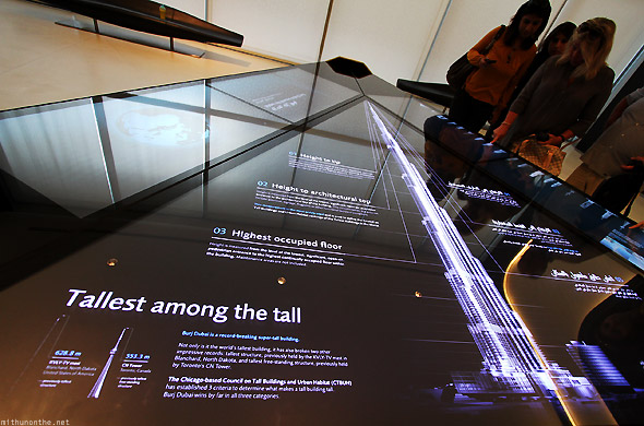 Burj Khalifa statistics At The Top entrance