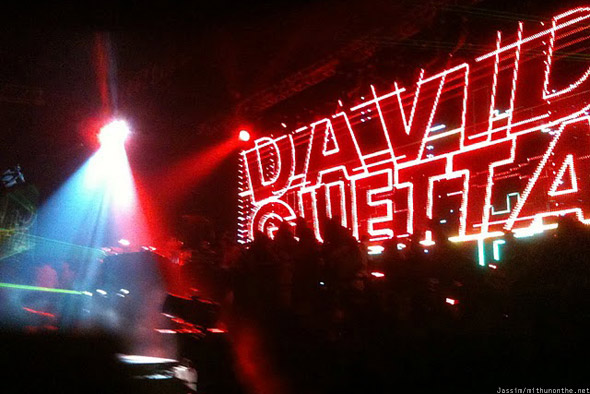 David Guetta Dubai 2010 screen name