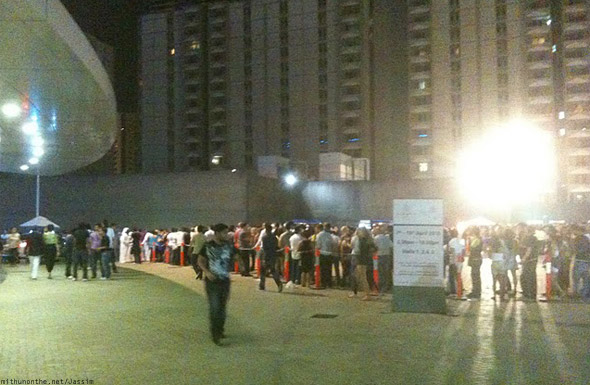 David Guetta Dubai 2010 crowd taxi queue