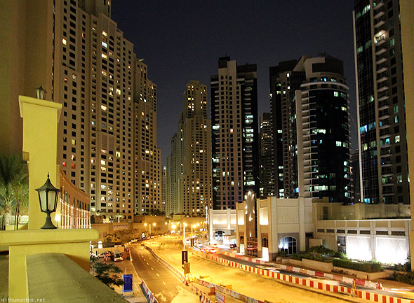 Dubai Marina apartments road construction
