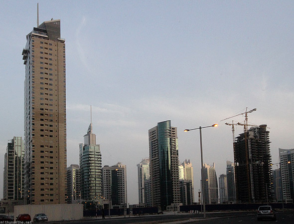 Dubai Marina building construction