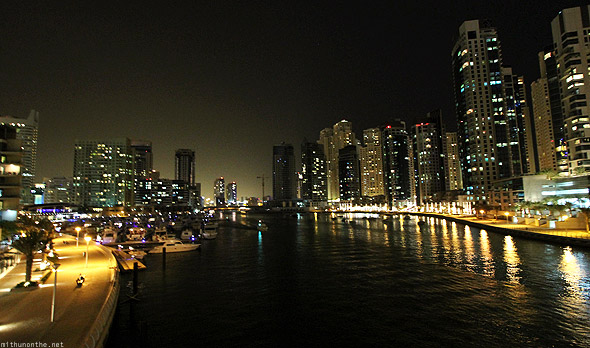Dubai Marina canal from bridge