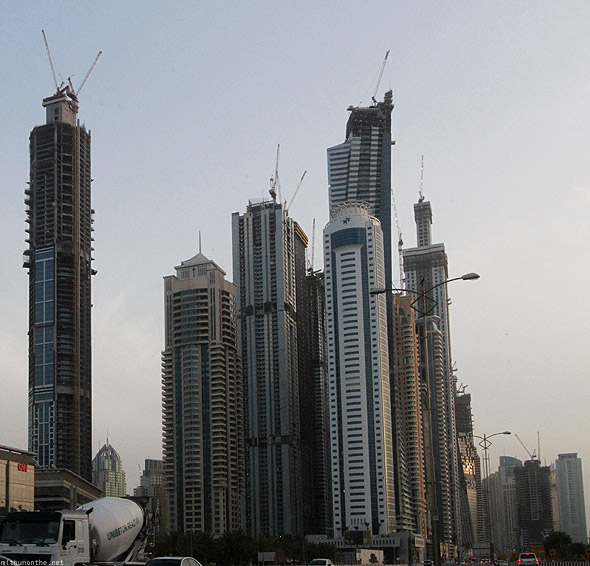 Dubai Marina construction buildings
