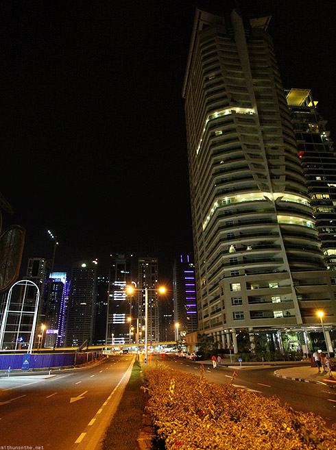 Dubai Marina crossing road