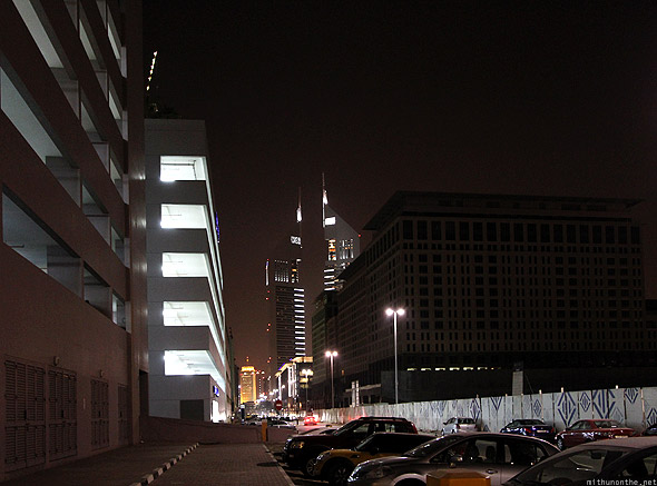Emirates Towers office hotel at night