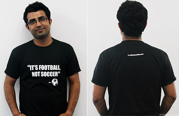 Gaurav It's Football Not Soccer t-shirt black