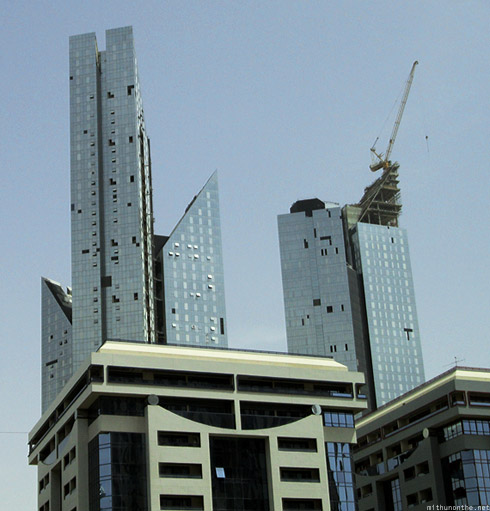 Glass building construction Sheikh Zayed road