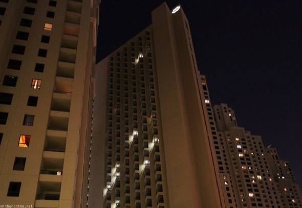Jumeirah Residences flats apartments lights
