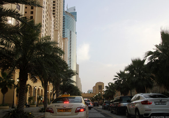 Jumeirah The Walk traffic jam