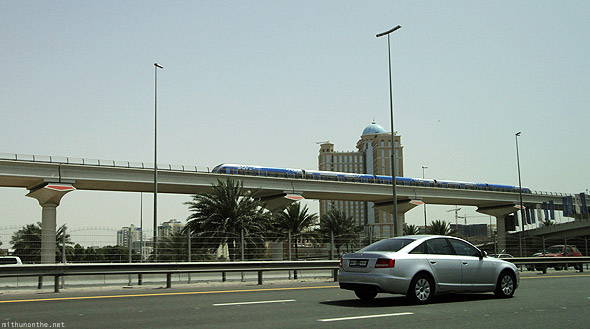 Metro line train Sheikh Zayed road